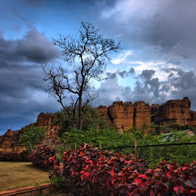 Badami by Narayna Gopi - Landscapes Mountains & Hills