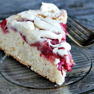 Strawberry and Cream Cheese Coffee Cake ~adapted from The Baker Upstairs.