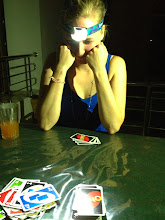 Photo: Regular power cuts mean my headlamps came in handy during Uno. (Kandy)