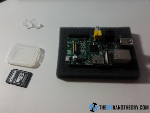 Photo: Raspberry Pi and SD card