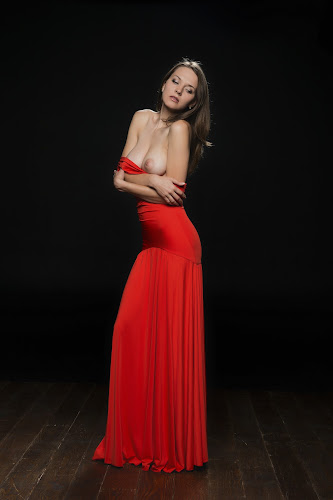 Lady In Red by Carl0s Dennis - Nudes & Boudoir Artistic Nude ( studio, nude, red, women, lady,  )