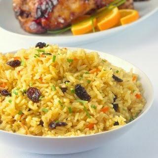 Carrot Raisin Rice Pilaf.