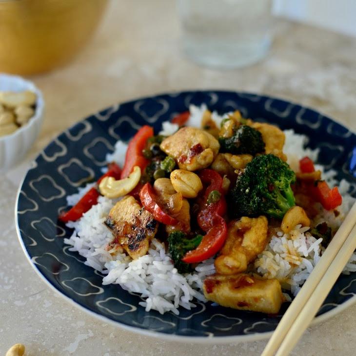 Spicy Cashew Chicken Stir-Fry Recipe