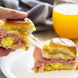 Ham and Swiss Breakfast Sliders