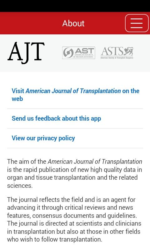 American Jnl Transplantation- screenshot