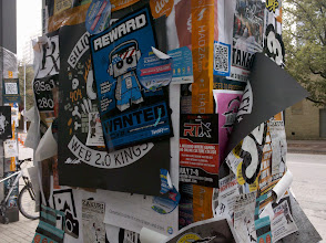Photo: How many posters on a column is too many?