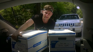 Photo: August 6, 2014-After a week of lugging boxes to and fro, there were but a few more to heft into the car.