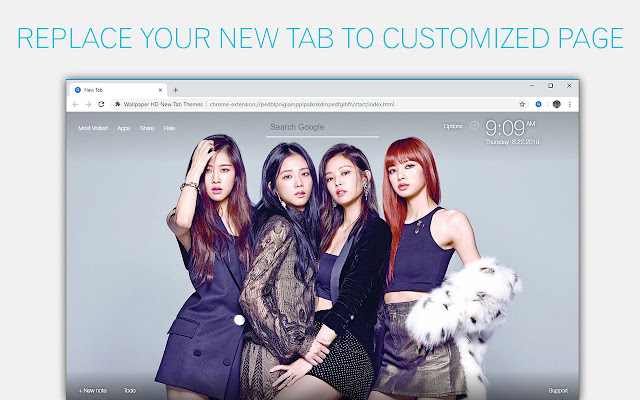 Kpop Blackpink Custom New Tab - freeaddon.com