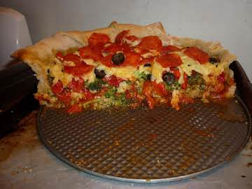 Homemade Mountain Pie Pizza