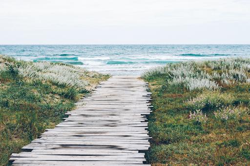 chemin vers la mer