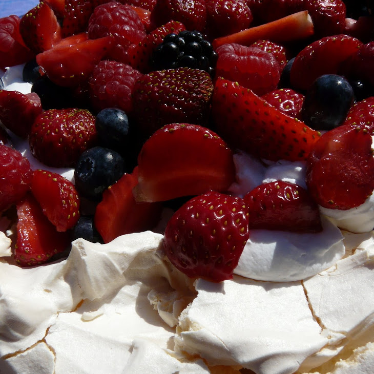Pavlova with Fresh Summer Berries Recipe