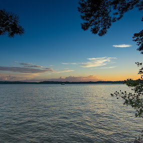 Sunset Georgia Lake by James Woodward - Landscapes Waterscapes ( sky, georgia, lake lanier, tokina, lake )