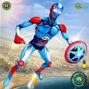 robot volant incroyable super héros APK