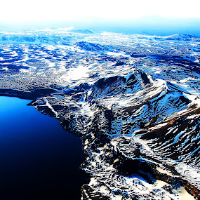Iceland by air. by Konrad Ragnarsson - Landscapes Mountains & Hills ( iceland, mountains, konni27, ice, snow, lake )