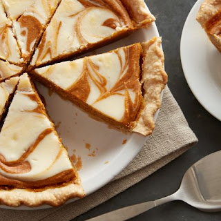 Pumpkin-Cream Cheese Pie.