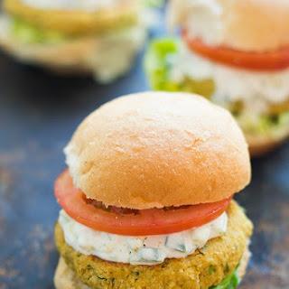 Chickpea Burgers with Tzatziki Sauce Recipe