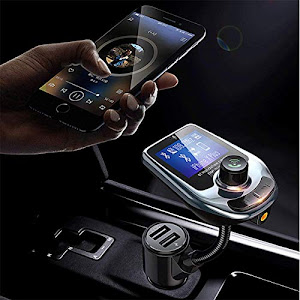 Car Kit Bluetooth D5 MP3 Player, Radio, Audio, Fast USB Charger AUX