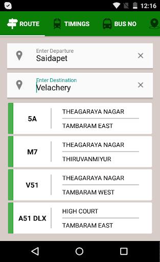 MTC bus route 3.10 screenshots 1