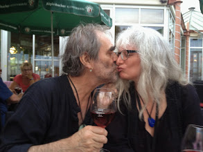 Photo: After the Summer School dinner down by Bodensee The happy couple finishes the European Shakuhachi Summer School with a kiss! <3