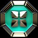 Next Launcher Theme Triqua 3D icon