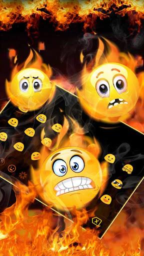 3D Red Flaming Fire Keyboard 10102 screenshots 3