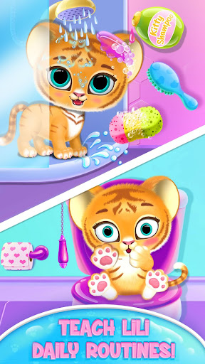 Baby Tiger Care - My Cute Virtual Pet Friend apkpoly screenshots 2