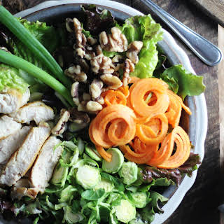 Winter Salad with Cranberry Chipotle Vinaigrette.