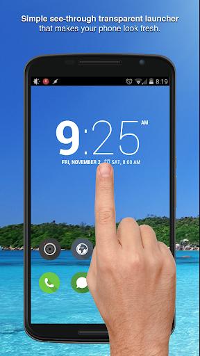 Real Transparent Phone Screen