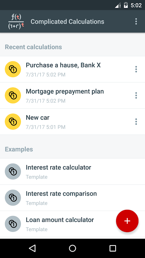 Loan Calculators- screenshot