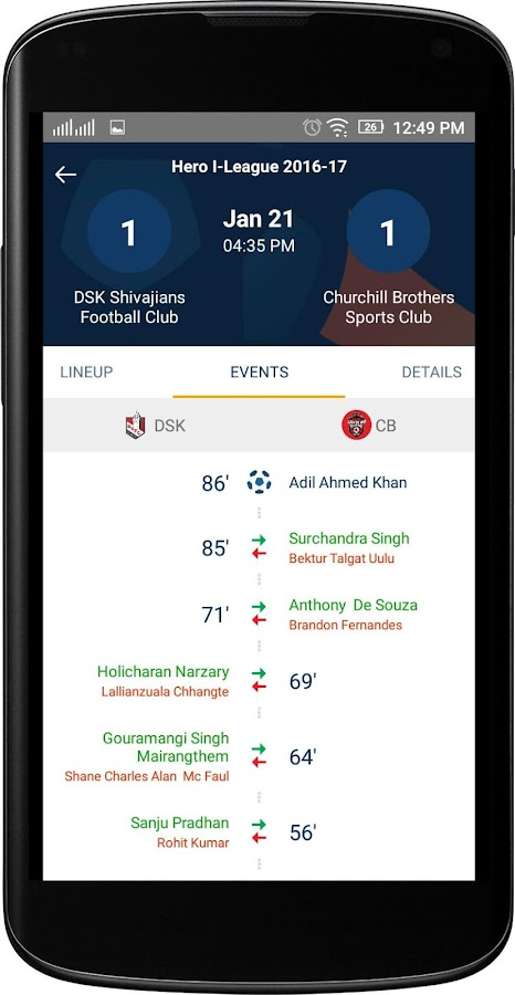 I-League Official- screenshot
