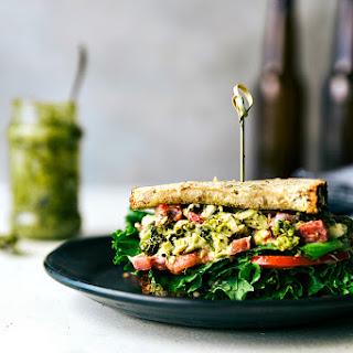 Pesto Chicken Salad Sandwiches