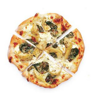 Spinach and Artichoke Pizzas