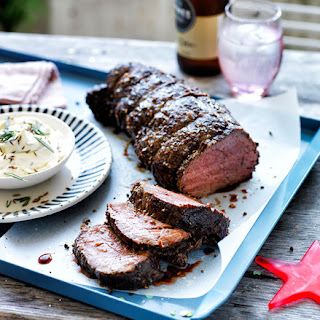 Green Peppercorn Beef With Caraway Cream