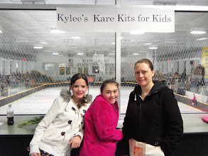 Photo: Kylee, Mia & Vicki at the Wallace Figure Skating Club's Annual Show doing fundraising on March 30, 2013.