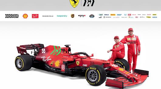 Presentación del Ferrari SF 21 con el gran protagonista Carlos Sainz