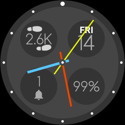 Bubble Cloud Wear Launcher Watchface (Wear OS) 9.39 screenshots 26