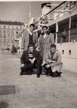 Photo: 1960 U Rijeci Stoje: Petrić Mario, Puzigača Čuće: Rovis Franko, Kurtović