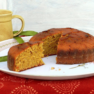 Jaggery Cake (A basic vanilla sponge cake using wheat flour and jaggery).