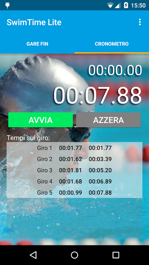SwimTime Lite- screenshot