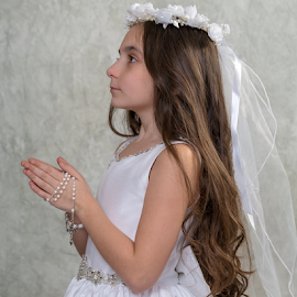 Sophia's Holy Communion by Dave Dabour - Babies & Children Child Portraits ( holy, white dress, church, girl, female, first communion )