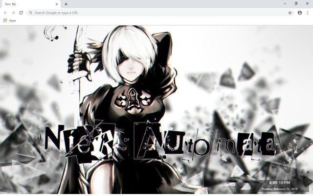 NieR Automata New Tab & Wallpapers Collection