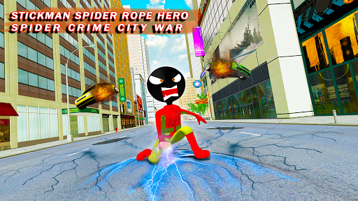 Stickman Crime City War - Stick Rope Hero Game 3 screenshots 3
