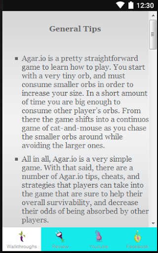 Guide for Agar.io