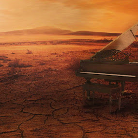 alone piano...... by Dyaz Afryanto - Digital Art Things