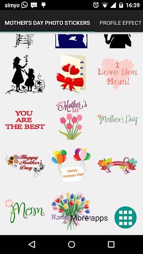 PC u7528 Mother's day photo stickers 2