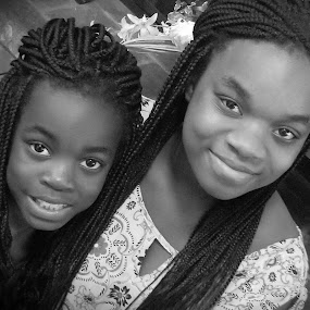 Sisters by David  Clayton - Babies & Children Child Portraits ( protraits, children, black and white, girls, sisters,  )