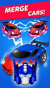 MERGE BATTLE CAR MOD APK BEST IDLE CLICKER TYCOON GAME DOWNLOAD FREE 1