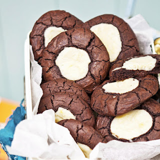 Chewy Chocolate Cream Cheese Cookies.