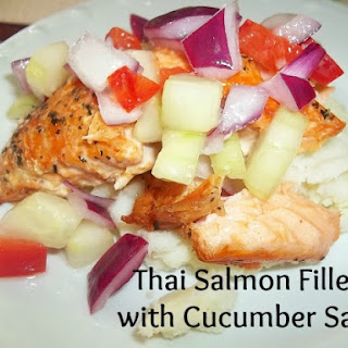 Thai Salmon Fillets with Cucumber salsa