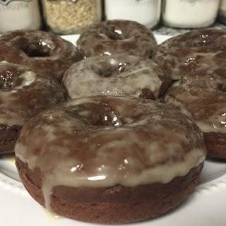 Chocolate Donuts with a Coffee Glaze